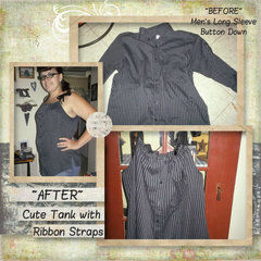 Men's Long Sleve Button Down Shirt, To Women's Halter Top...