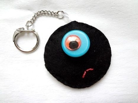 Sweet! .  Make a charm / keyring in under 20 minutes using felt, buttons, and hot glue gun. Creation posted by EVEnl. Difficulty: Easy. Cost: Absolutley free.