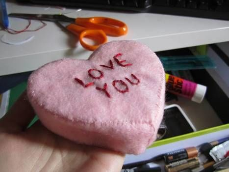 .  Make a candy heart plushie in under 30 minutes by sewing Inspired by valentine's day and hearts. Version posted by MaybeAViking. Difficulty: Easy. Cost: Cheap.