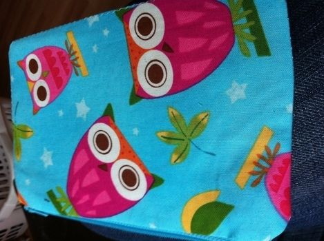 For all those make up goodies! .  Make a pouch, purse or wallet in under 60 minutes by sewing with thread, zipper, and interfacing. Creation posted by Jess. Difficulty: Easy. Cost: Cheap.
