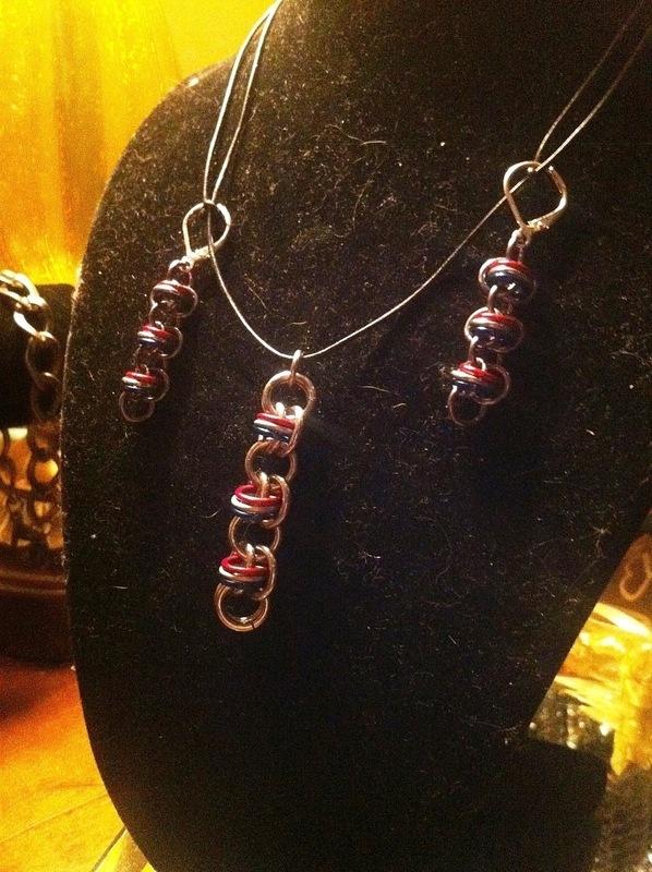 U Spride Patriotic Chain Maille Earrings A Pair Of