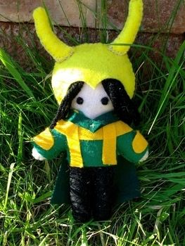 A less evil version of loki .  Make a food plushie in under 120 minutes by needleworking and sewing with felt and sewing equipment. Inspired by domo kun and domo kun. Creation posted by Asgards_Princess. Difficulty: 3/5. Cost: Cheap.