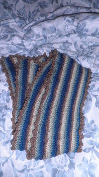 .  Knit Or Crochet a stripy scarf by crocheting Version posted by Helgahood. Difficulty: Easy. Cost: 3/5.