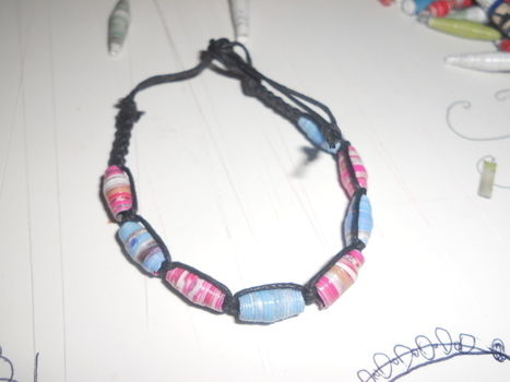 .  Make a paper bead bracelet in under 15 minutes Version posted by mosskeeto. Difficulty: Easy. Cost: Absolutley free.