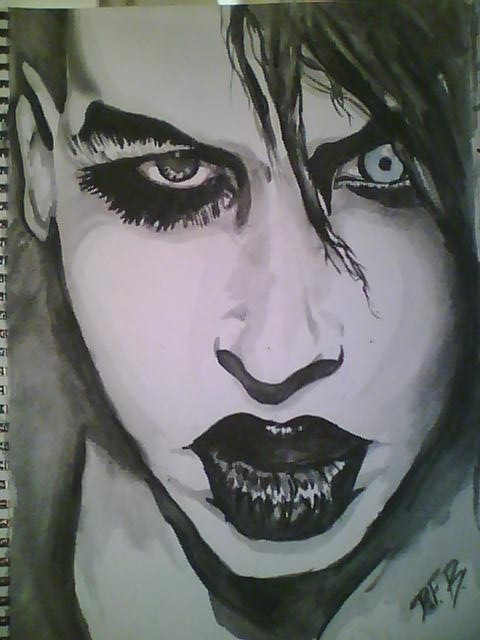 Marilyn Manson Watercolor · A Piece Of Watercolor Art ...