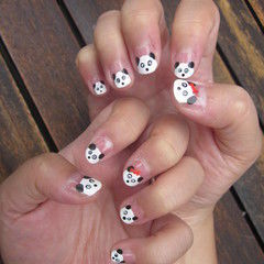 Panda nail art an animal nail drawing nail painting and panda nail art an animal nail drawing nail painting and decorating on cut out keep prinsesfo Images