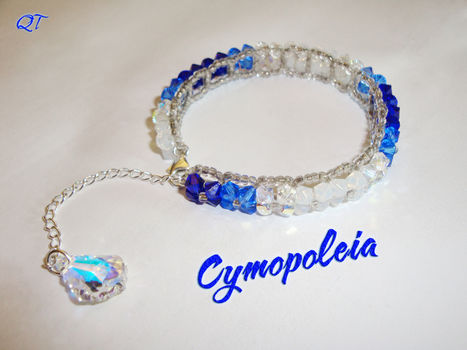 Ooh thats shiny! .  Bead a crystal bracelet by beading with pliers, seed beads, and glass beads. Inspired by clothes & accessories and swarovski. Creation posted by DarkShadowfax. Difficulty: Simple. Cost: 3/5.