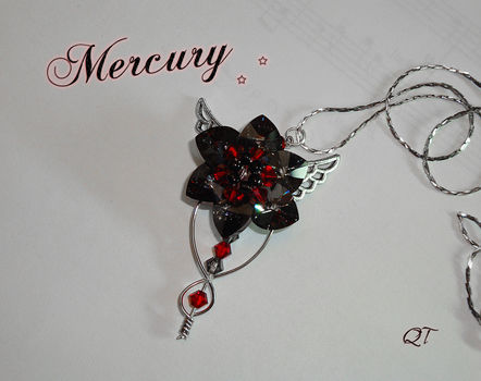 Shiny, Epic, Awesome. .  Make a wire necklace in under 60 minutes by beading and wireworking with charms, seed beads, and glass beads. Inspired by gothic, costumes & cosplay, and elves. Creation posted by DarkShadowfax. Difficulty: 3/5. Cost: 3/5.