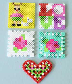 Perler beads aren't just for kids! .  Free tutorial with pictures on how to bead a beaded heart in under 60 minutes by beading and pegboarding with perler beads. How To posted by maize hutton. Difficulty: Easy. Cost: Cheap. Steps: 3