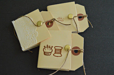 How To Make Hang Tag Notebooks .  Free tutorial with pictures on how to make a recycled book in under 15 minutes by papercrafting and bookbinding with tags. How To posted by maize hutton. Difficulty: Simple. Cost: Cheap. Steps: 12