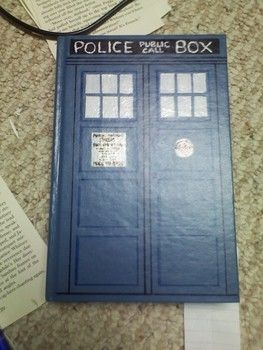 Hollowed book box disguised as TARDIS .  Free tutorial with pictures on how to make a book box in under 180 minutes by decorating with glue, paint brush, and nail polish. Inspired by dr who, books, and sci fi. How To posted by brizinga. Difficulty: 3/5. Cost: Absolutley free. Steps: 8