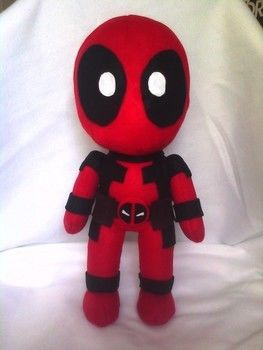 Plushpool :D .  Make a character plushie by needleworking, sewing, and patchworking with felt, thread, and thread. Inspired by kawaii, marvel, and deadpool. Creation posted by Karen C. Difficulty: 3/5. Cost: 3/5.