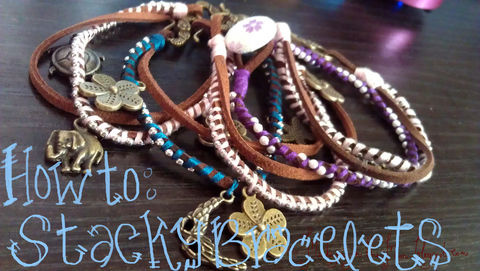 Bracelets that looks nice on its own or stacked.  .  Free tutorial with pictures on how to braid a braided bead bracelet in under 30 minutes by beading and not sewing with embroidery thread, ball chain, and closure. Inspired by vintage & retro and clothes & accessories. How To posted by Rebecca L. Difficulty: Simple. Cost: Cheap. Steps: 8