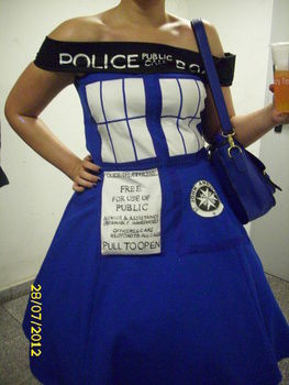 A wibbly-wobbly timey-wimey cosplay project. .  Sew a costume dress by embroidering, transfering, sewing, dressmaking, and decorating with fabric, patience, and stuff. Inspired by costumes & cosplay. Creation posted by sternchen. Difficulty: 3/5. Cost: 4/5.