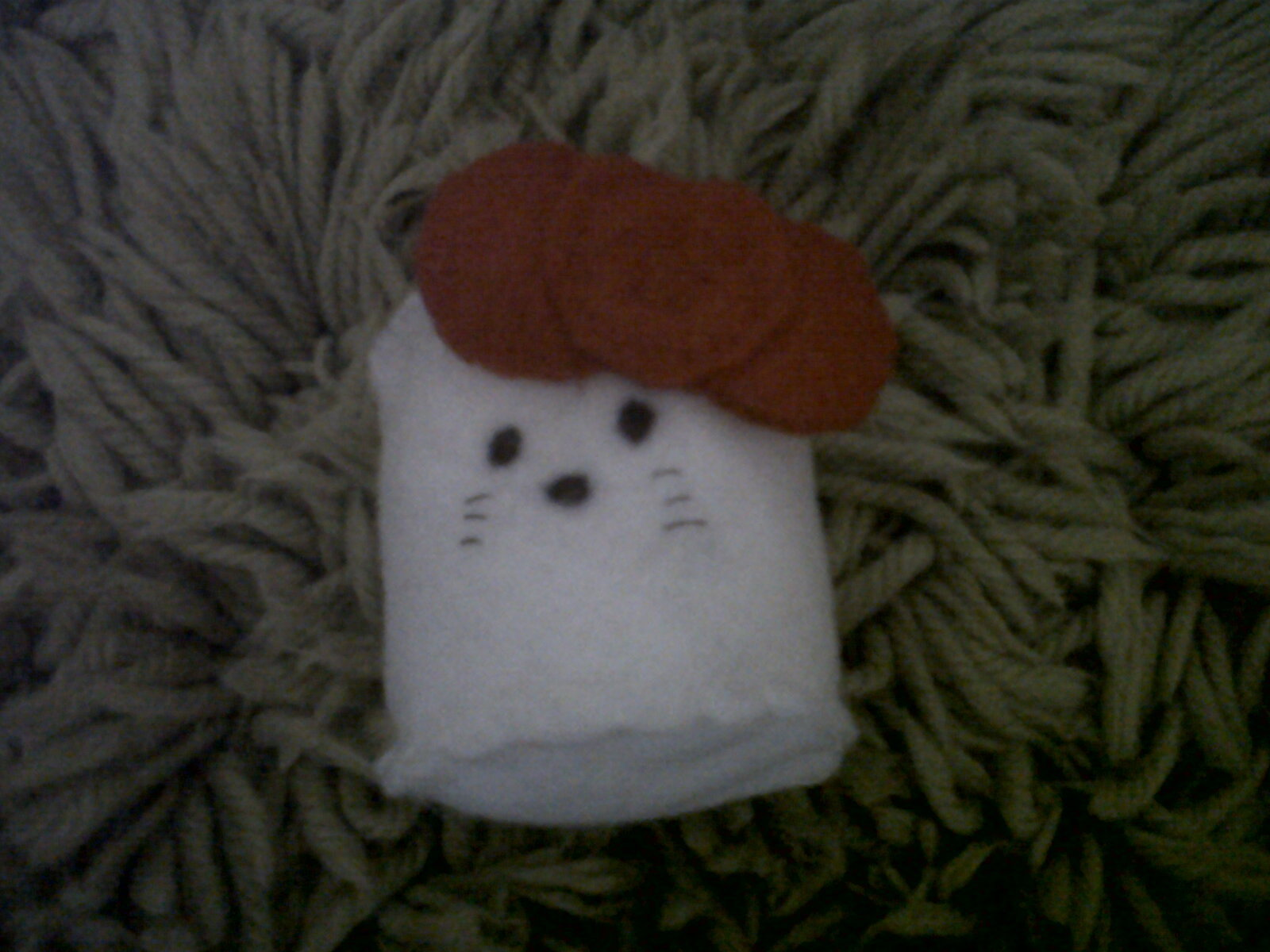51e93ea8b ... and Hello Kitty themed marshmallow. . Make a marshmallow plushie by  embroidering, sewing, and