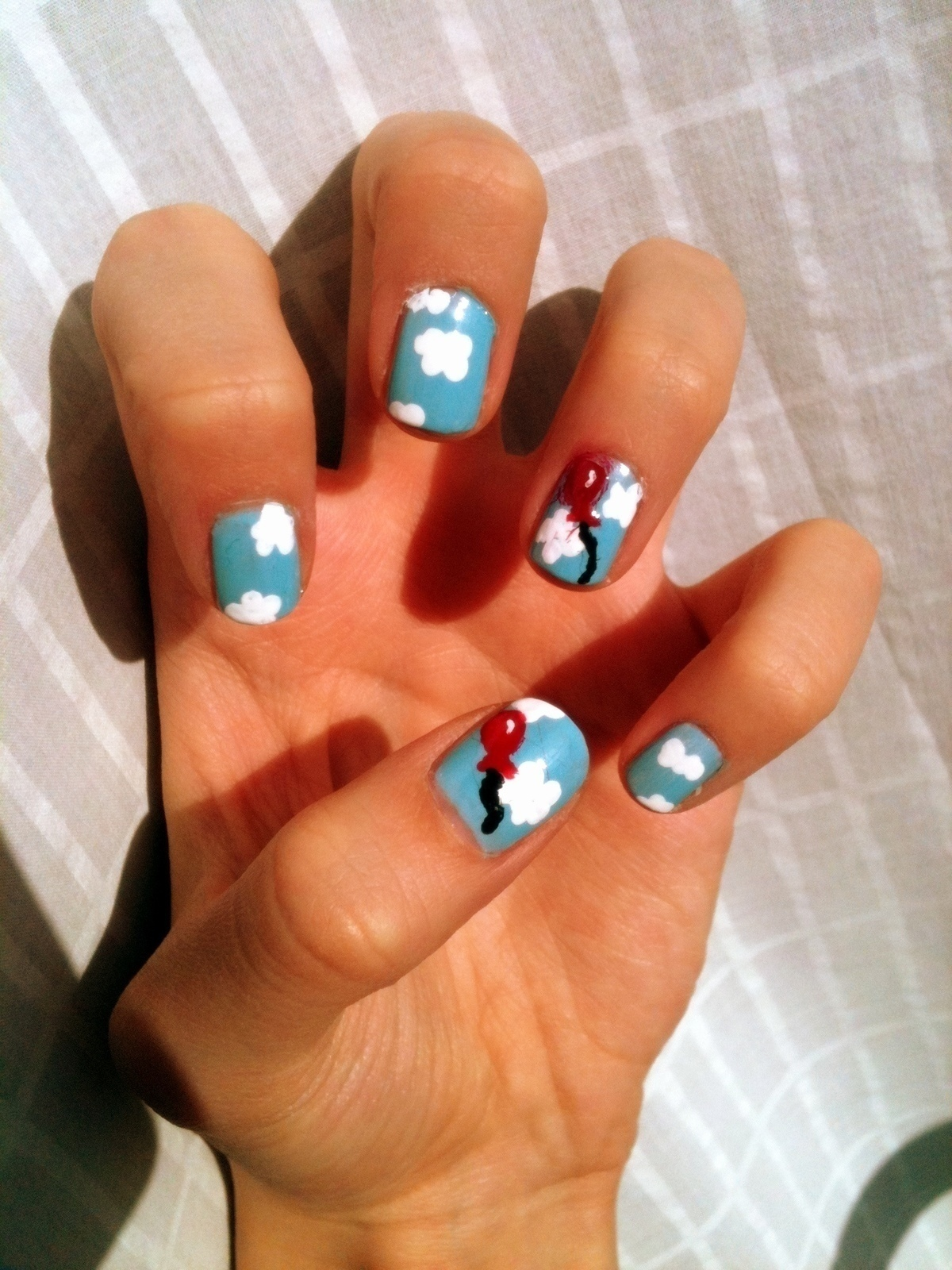 Oh Cloudy Day · Patterned Nail Art · Nail Painting And
