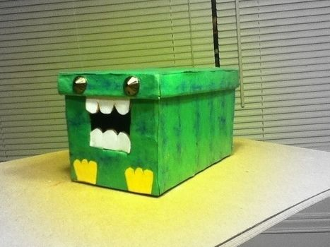 AAH!! its so cute :D .  Make a paper box by creating, drawing, embellishing, studding, papercrafting, and paper folding with studs, construction paper, and cardboard box. Inspired by crafts, gifts, and gothic. Creation posted by craftylilred. Difficulty: Easy. Cost: Absolutley free.