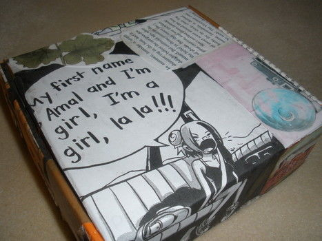 BECAUSE YES .  Make a decoupage box in under 60 minutes by drawing and collage with scissors, glue, and picture. Inspired by comic books and flowers. Creation posted by mlarmalade. Difficulty: Easy. Cost: No cost.