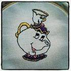 Mrs Potts Embriodered Dish Towel