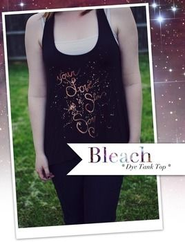 Customize a boring t-shirt with this galaxy inspired bleach dye technique! .  Free tutorial with pictures on how to make a decorated top in under 30 minutes by dyeing and bleaching with t shirt, paint brush, and cardboard. How To posted by violet s. Difficulty: Easy. Cost: Cheap. Steps: 2