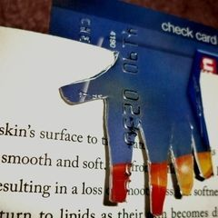 Junk Recycled Credit Card Bookmark