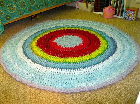 Crochet Rug 183 A Rag Rug 183 Crochet On Cut Out Keep