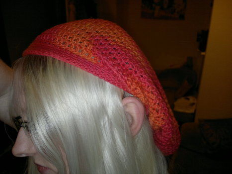 Plus link to pattern .  Make a slouchy beanie by yarncrafting and crocheting with yarn and crochet hook. Inspired by costumes & cosplay, vintage & retro, and cut out + keep. Creation posted by HotPinkCrayola. Difficulty: Easy. Cost: Cheap.