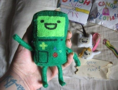"""""""Where the fun will never end, its Adventure Time!!"""" .  Make a gadget plushie by constructing, sewing, decorating, and dressmaking with felt, ribbon, and wire. Inspired by creatures and adventure time. Creation posted by DarkAshHurts. Difficulty: Simple. Cost: Absolutley free."""