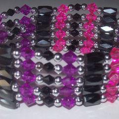 Cheshire Cat Magnetic Hematite Wrap Bracelet