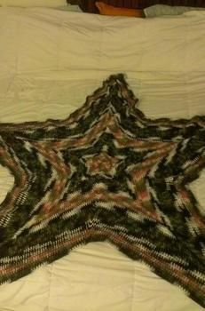Fun and Warm Blanket. .  Stitch a star knit blanket by yarncrafting and crocheting with yarn, yarn, and yarn. Creation posted by Britty . Difficulty: 3/5. Cost: 4/5.