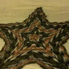 Camouflage Star Blanket