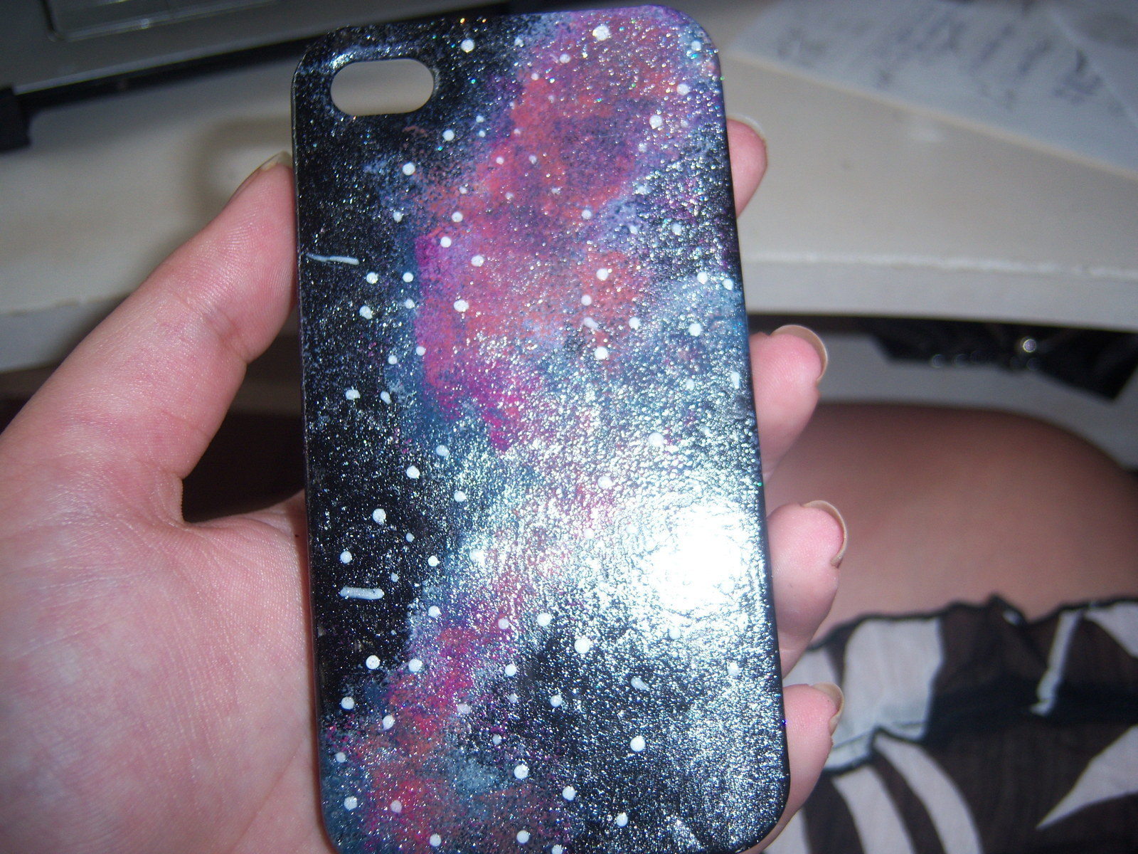 huge discount ccf79 f79b3 Galaxy Print Iphone Case · A Painted Case · Art, Stamping, and ...