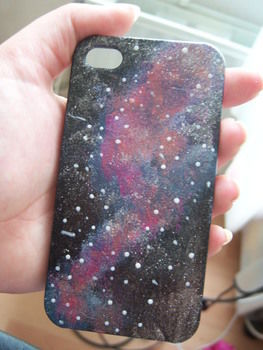 Quick and easy, we all love galaxy prints don't we?  .  Decorate a painted case in under 20 minutes by creating, stamping, and decorating with nail polish, nail polish, and nail polish. Creation posted by Pam N. Difficulty: Easy. Cost: Absolutley free.
