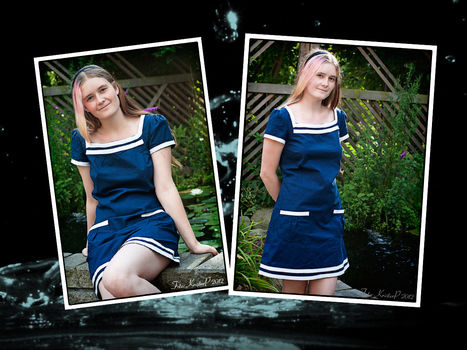 A Sailor-inspired summer dress, Perfect for the beach or the park! .  Sew a hand sewn dress in under 180 minutes by sewing with needle and cotton fabric. Inspired by summer holidays, kawaii, and clothes & accessories. Creation posted by Bobbalupp. Difficulty: Simple. Cost: Absolutley free.