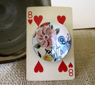 DIY Brooch .  Make a paper brooch in under 30 minutes by papercrafting, collage, decoupaging, and paper folding with paper and white glue. Inspired by anthropologie. Creation posted by Wendy W. Difficulty: Simple. Cost: Absolutley free.