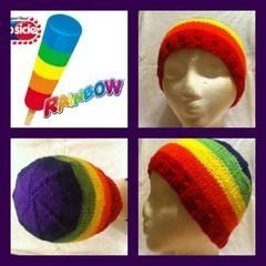 Rainbow Pop Beanie