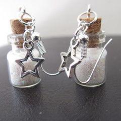 Tiny Bottle 'Stardust' Earrings