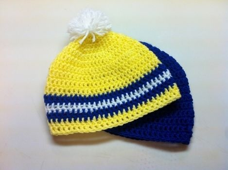 Quick Projects .  Make a stripy beanie in under 120 minutes by crocheting with crochet hook and worsted weight yarn. Inspired by clothes & accessories. Creation posted by Pam. Difficulty: Easy. Cost: Absolutley free.