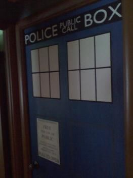My amazing TARDIS door! I love it! .  Make wall decor by creating, decorating, and stencilling with paper, paint, and paint brush. Inspired by crafts, bedroom, and tv shows. Creation posted by saymynameangelapayne. Difficulty: 3/5. Cost: 3/5.
