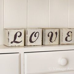 Vintage 'Love' Blocks