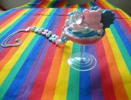 Looks soooooo sweet, just don't try to eat!  .  Sculpt a clay food necklace in under 120 minutes by beading and jewelrymaking with beads, wire, and paint. Inspired by gothic and kawaii. Creation posted by Boo_its_Brittany. Difficulty: 3/5. Cost: 3/5.