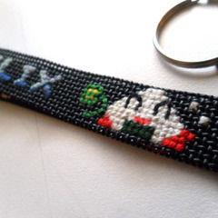Cross Stitch Personalized Keychain