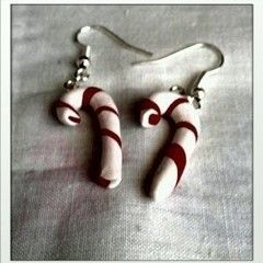 Xmas Cane Earrings