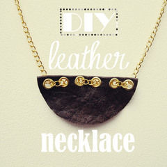 Semi Circle Leather Necklace
