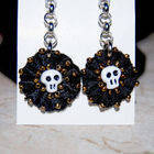 Skull Beaded Lace Earrings