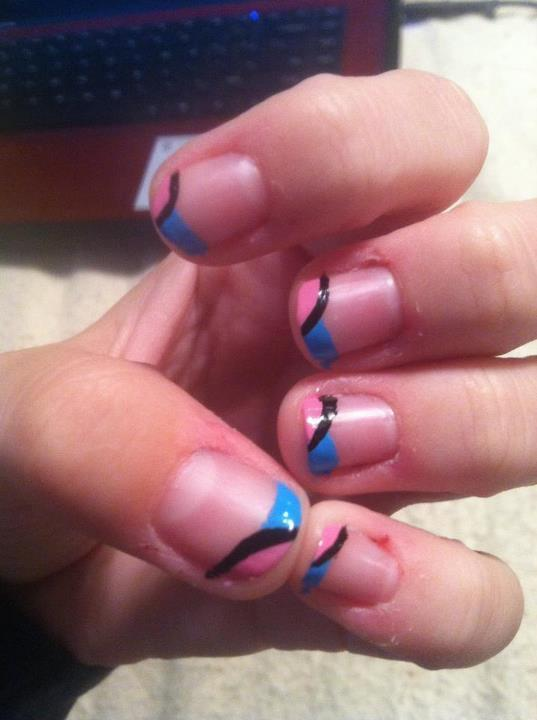 80s Nails · How To Paint Patterned Nail Art · Art, Beauty