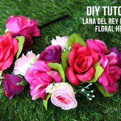 Lana Del Rey Inspired Floral Headband