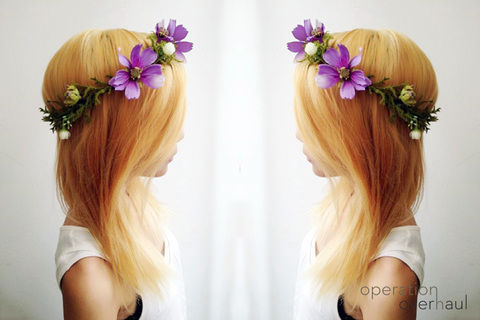 First seen on Lana Del Rey, you've gotta admit its everywhere. Make your own! .  Free tutorial with pictures on how to make a floral headband in under 30 minutes by applying makeup with hot glue gun, hair band, and fake flowers. Inspired by costumes & cosplay, flowers, and floral. How To posted by Operation Overhaul.  in the Jewelry section Difficulty: Simple. Cost: Cheap. Steps: 8