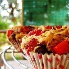 Dark Chocolate And Strawberry Muffins
