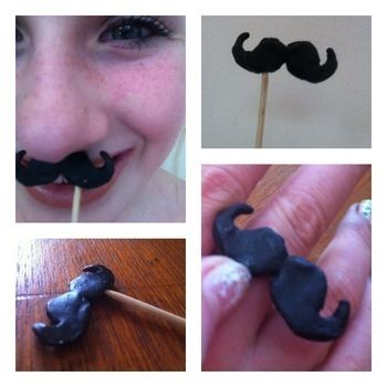 A cute moustache or moustache ring .  Free tutorial with pictures on how to make a mustache in under 20 minutes by baking and molding with clay, toothpick, and pva glue. Inspired by clothes & accessories. How To posted by NatBat. Difficulty: Easy. Cost: Cheap. Steps: 11